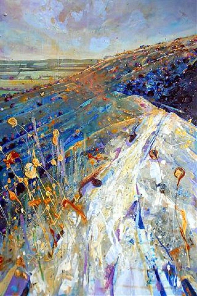 lorna holdcroft paintings   Lorna Holdcroft - Scarp Slope, Ditchling Beacon - Artists ...