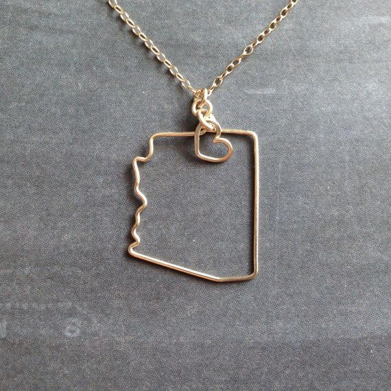 in silver of course.... Arizona Necklace  Custom State Love Necklace  State by theFolk, $34.00