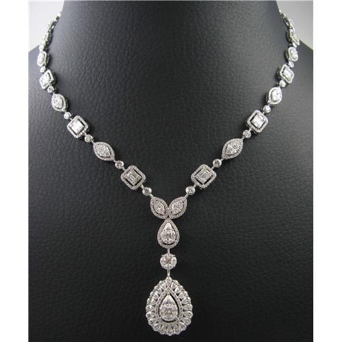 laides 18k white gold Diamond Necklace $17,312.00
