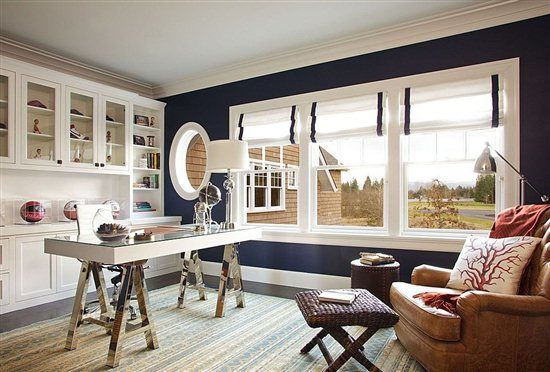 Nautical Office Inspiration from @Sayeh , The Office Stylist #decorating #homeoffice
