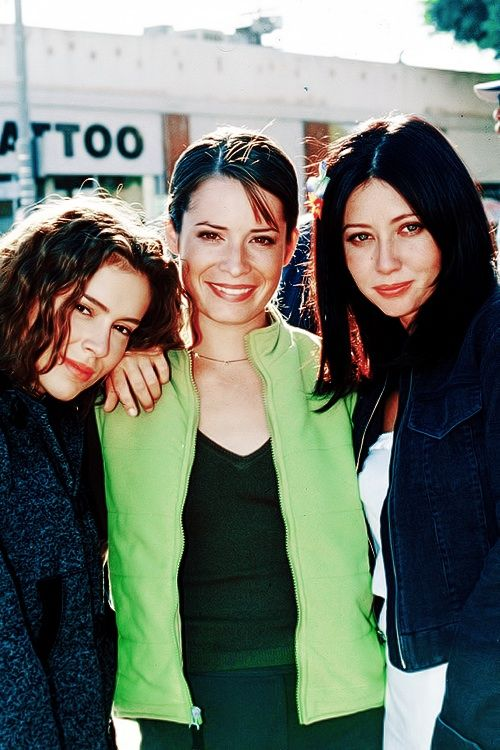 """The original 3 ladies from Aaron Spellings' T.V. show """"Charmed"""". Quite entertaining! :) (Allysa Milano, Holly-Marie Combs, Shannen Doherty)"""