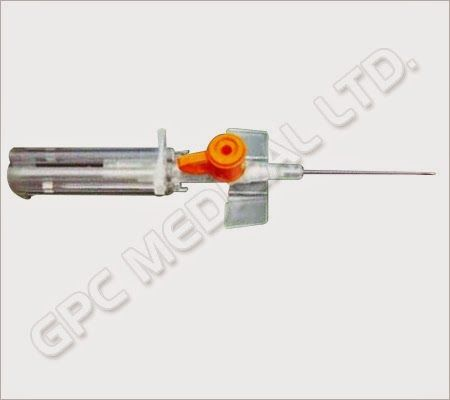 Safety I.V. Cannula with Injection Port & Wings