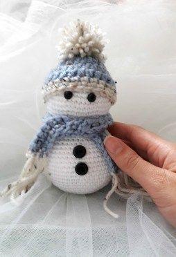 Deco Noel Crochet.Crochet Déco Noël Bonhomme De Neige Avec Tuto Crochet