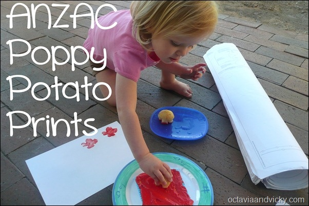 ANZAC Day Potato Prints