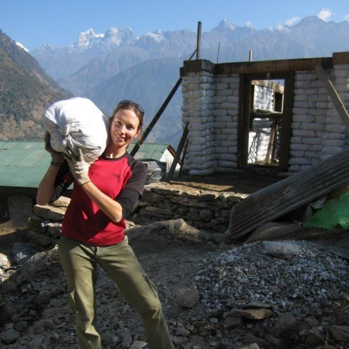 Earthbag schools in Nepal. Photo by Corinne Wallis #earthbag #volunteer #abroad #school #education #build #DoSomethingPhoto