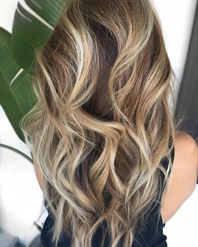 I would love this as a dark brown to blonde ombre.
