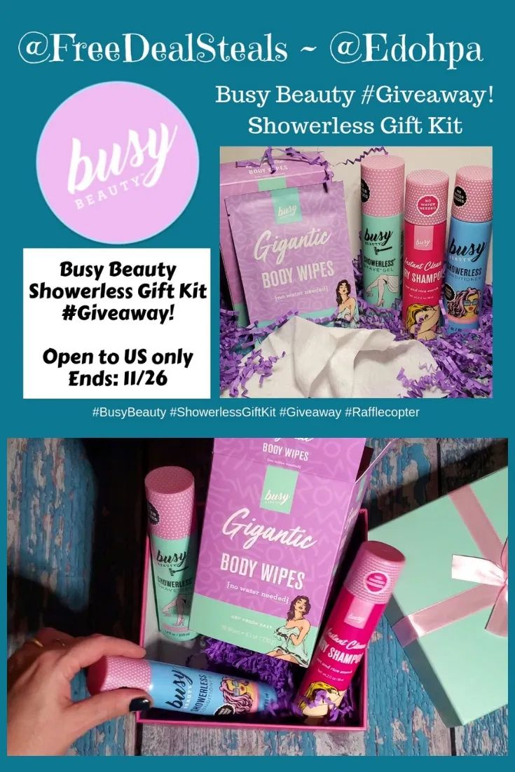 Busy Beauty Showerless Body & Hair Care Products!