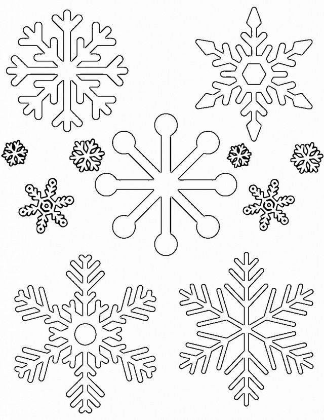 Christmas Holidays Winter Stencils Large Snowflakes Pattern