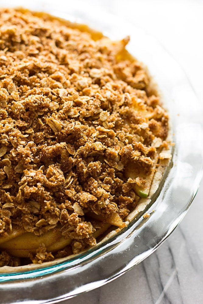 This Apple Crumble Pie Is Gluten Free Vegan And Full Of Apple Cinnamon Goodness It Features My Healthier Gluten Apple Crumble Pie Pie Crumble Apple Crumble