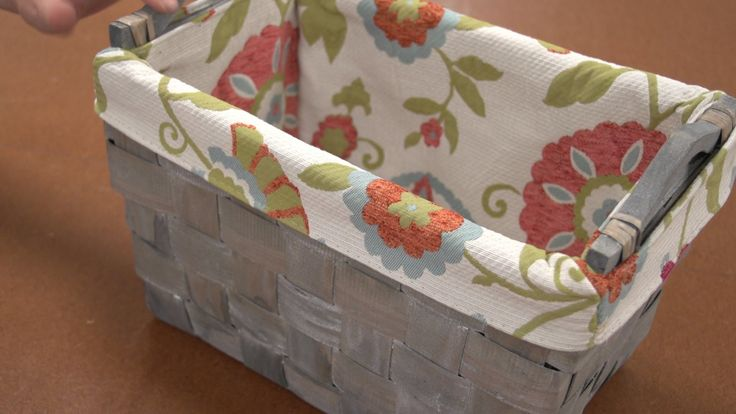 How to Make a Basket Liner Video demonstrates step-by-step how to make a fabric lining for decorative or storage baskets. Basket liners help protect the bask...