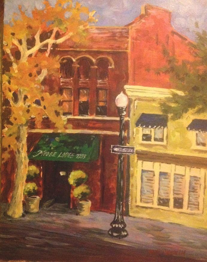 "Tracy California Moose Club Plein Air Acrylic Painting Pamela Wilhelm 11X14"" #Impressionism"