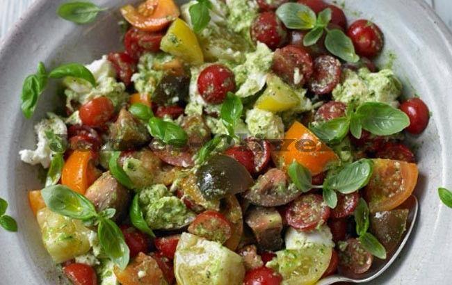 Салат капрезе - рецепт приготовления с фото от Джейми Оливера
