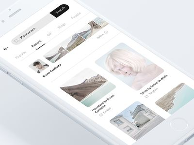 Mobile Blog App — Discover screen