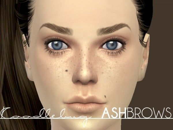 Mod The Sims: Ash Brows by Koodlebug • Sims 4 Downloads