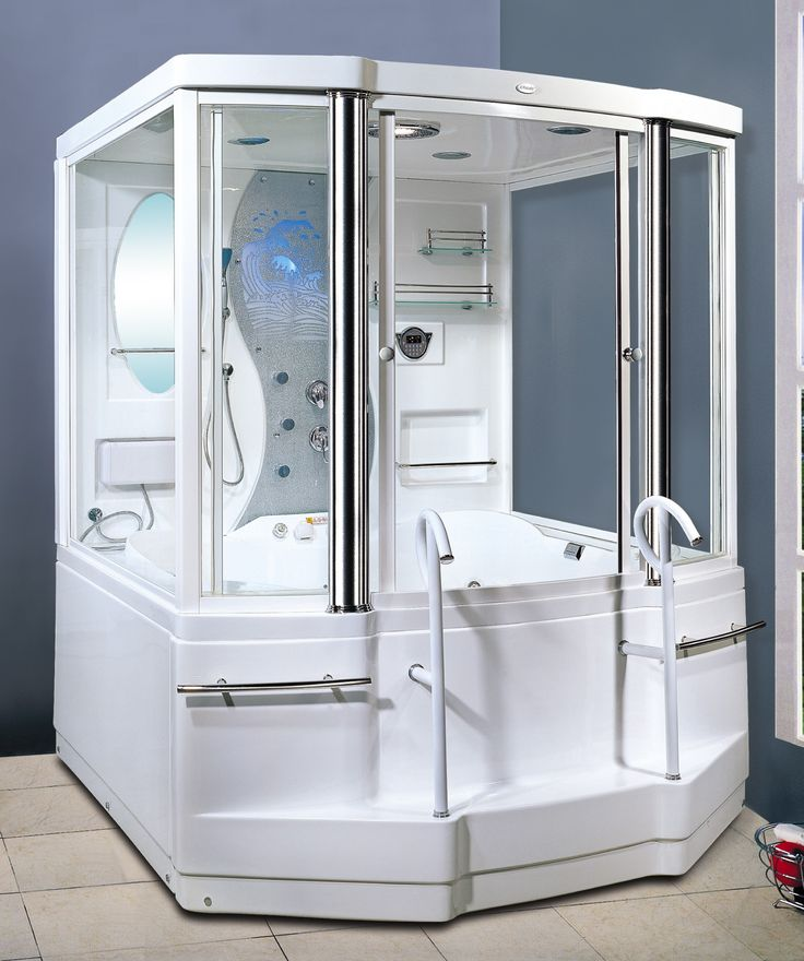 Cool steam shower tub. Also, a time machine. @thediyconsumer #kbtribechat