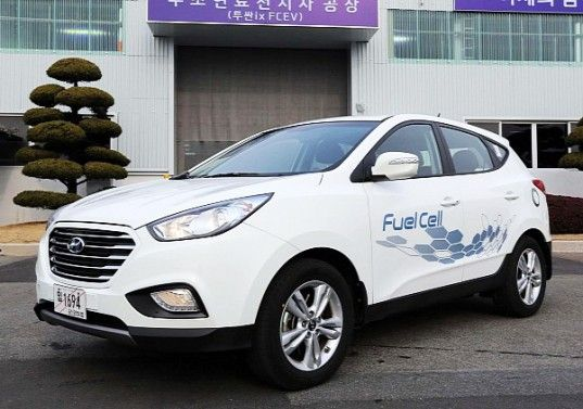 Hyundai Unveils the World's First Production Hydrogen Fuel Cell Vehicle! Hyundai just became the world's first automaker to begin assembly-line production of a zero-emissions, hydrogen-powered vehicle.