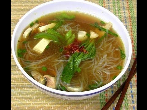 ▶ Veg Clear Noodle Soup Recipe With English Subtitles - YouTube