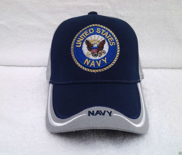UNITED STATES NAVY (BLUE / GRAY) Military Veteran Hat 589 KN MT #BaseballCap
