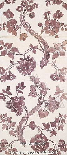 Design for woven silk, by Anna Maria Garthwaite. London, England, 1752