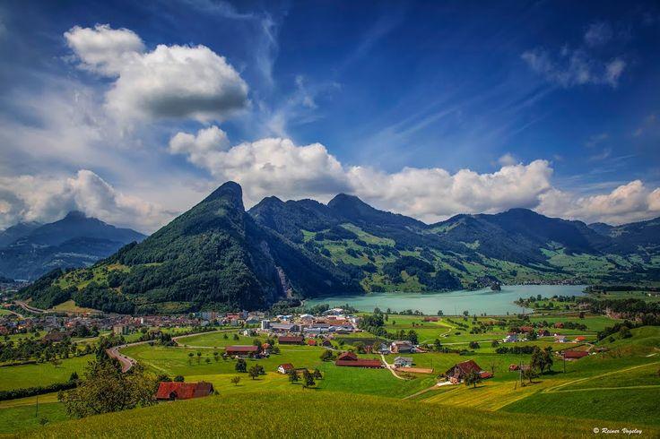 Schweiz: Kanton Schwyz, Blickrichtung Lauerzersee