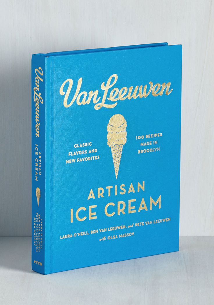 An ice cream recipe book?!? Almost too good to be true- but it's even better because it looks like it has awesome flavors. Want.