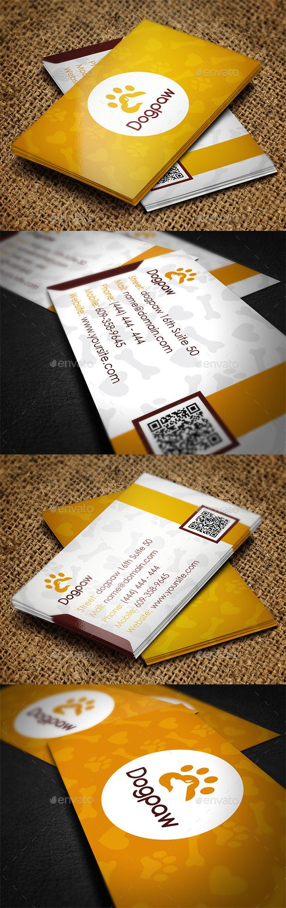 225 Best Business Card Logo Images On Pinterest Therapy Dogs