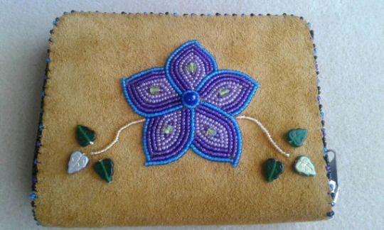 eff yeah indigenous fashion!  wallet, Alaska Beadwork (Athabascan)