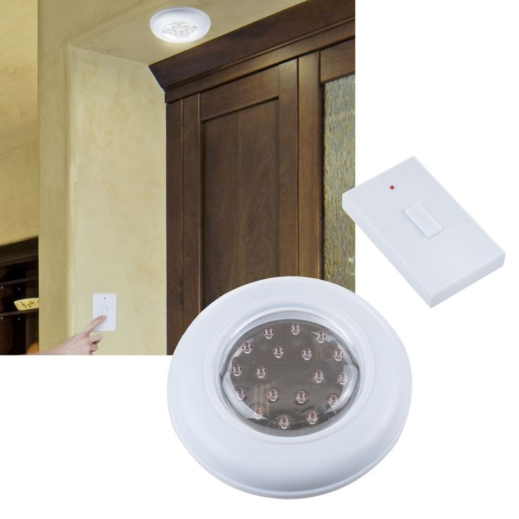 Trademark Gameroom Cordless Ceiling/Wall Light with Remote Control Light Switch