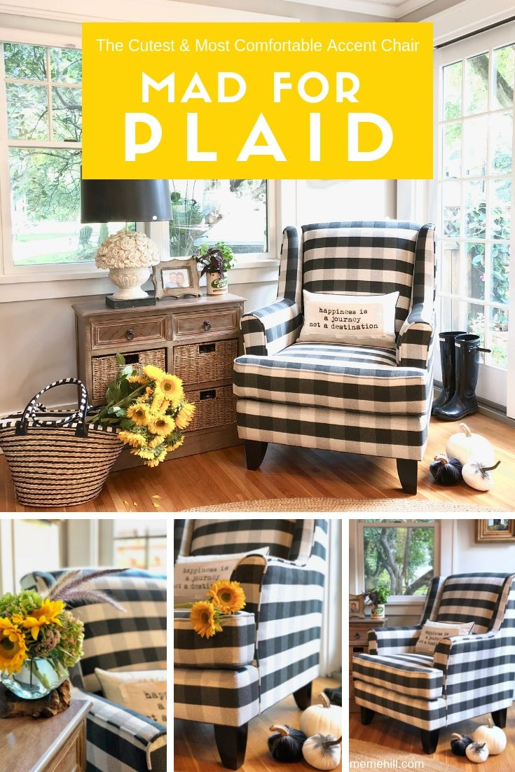 Buffalo Check Chairs Plaid Black Chairs Plaid Chair Comfortable Accent Chairs Comfortable Living Room Chairs #plaid #chairs #for #living #room
