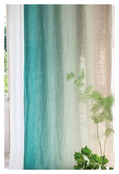 To DIY For: Ombre Dyed Curtains