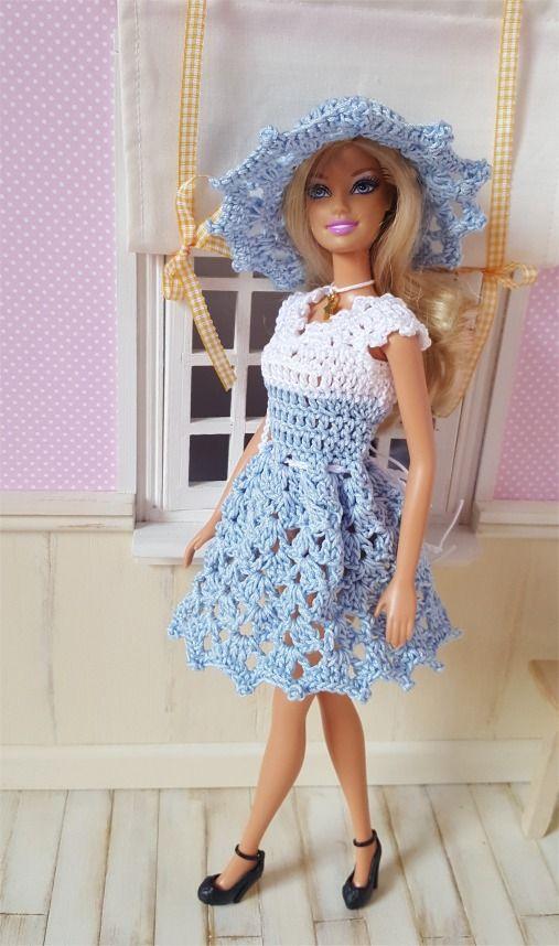 130- FICHE PATRON CROCHET Ensemble Clélie pour poupée Barbie : Jeux, jouets par atelier-crochet