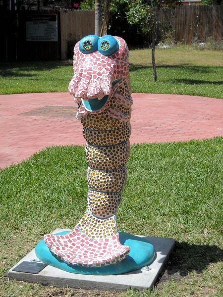 Shrimp Statue in Amelia Island
