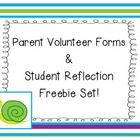 Here's a Parent Communication Freebie Set which includes my Parent Volunteer Forms as well as a student weekly reflection slip.    The two parent v...