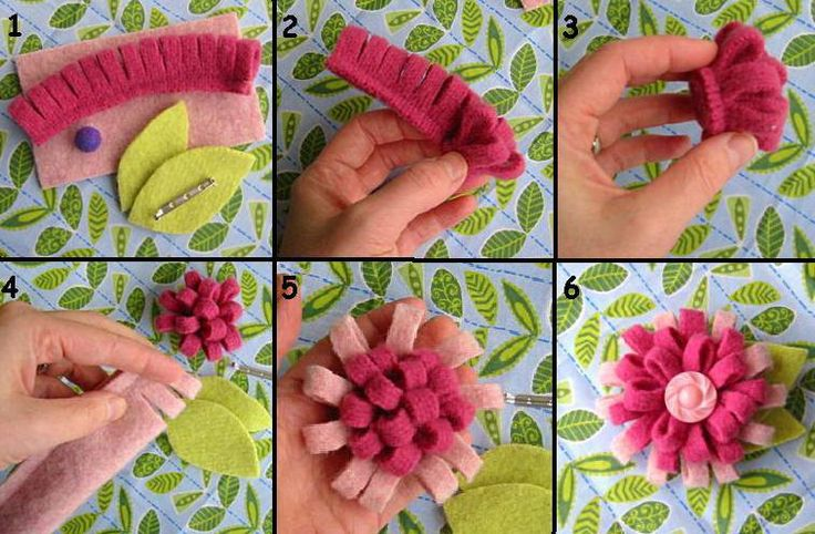 How to make Nonwoven felt flowers step by step DIY tutorial instructions, How to, how to do, diy instructions, crafts, do it yourself, diy website, art project ideas