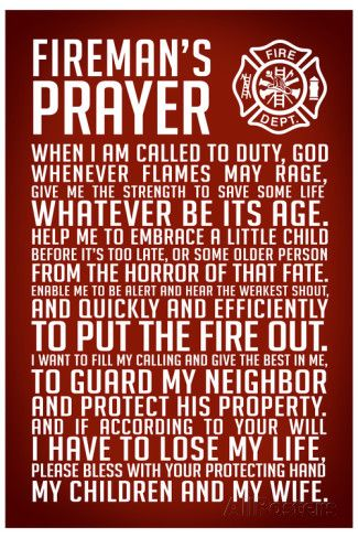 A Fireman's Prayer Plastic Sign Wall sign