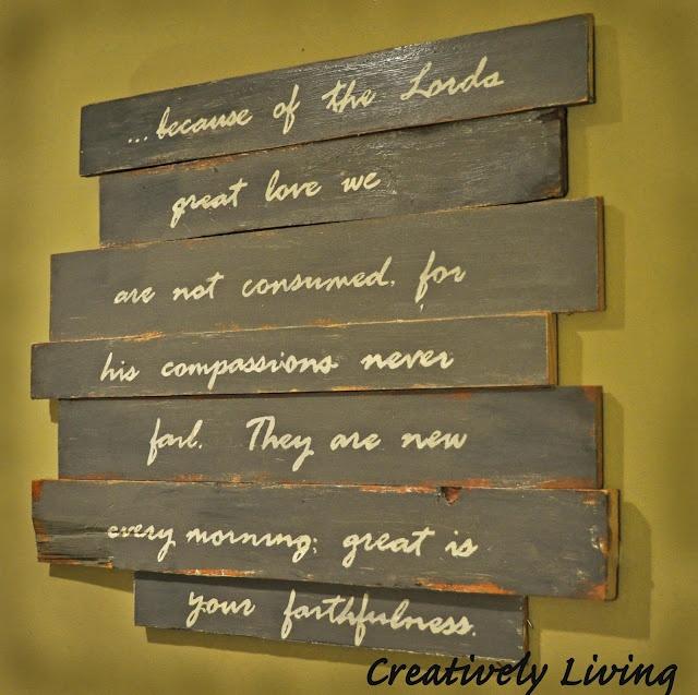 DIY wall art: The Lord, Wall Signs, Wallart, Wood Scrap, Living Wall, Wood Signs, Diy Wall Art, Wood Wall, Pallets Boards