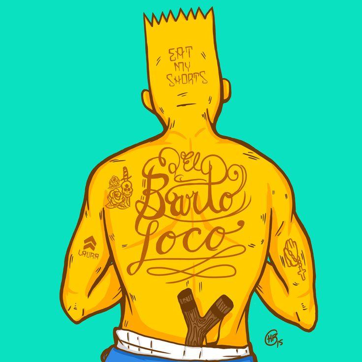 El Barto Loco for the Bootleg Bart Contest  Art By Kristian Bolanos