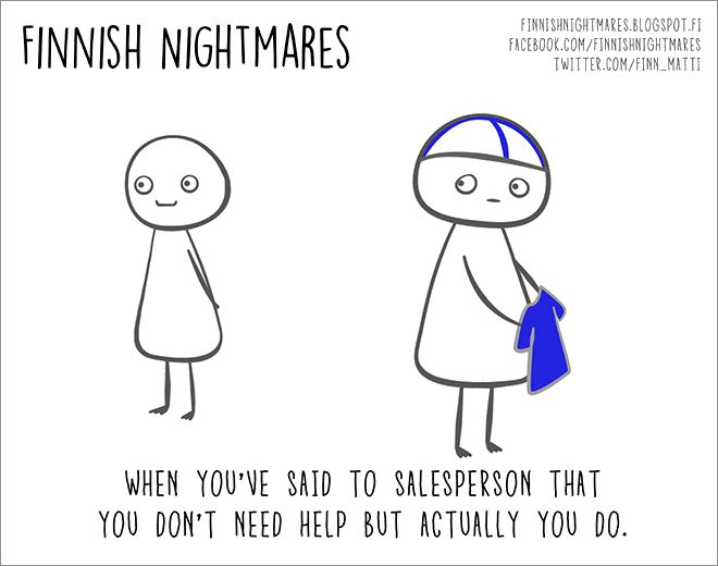 Cartoons of Finnish Nightmares Even Non-Finns Can Relate To