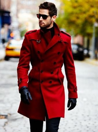 Red military trench coat!