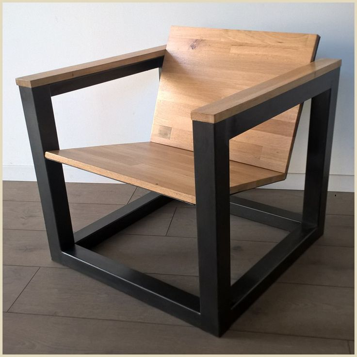 fauteuil moderne bois métal
