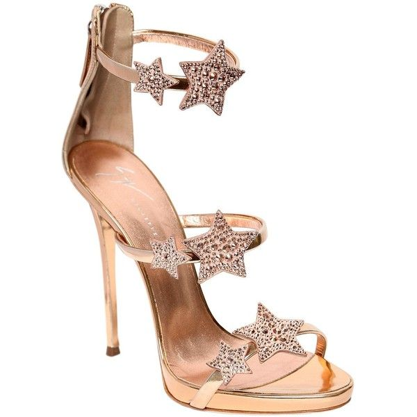 Giuseppe Zanotti Design Women 120mm Swarovski Metallic Leather Sandals (75.390 RUB) ❤ liked on Polyvore featuring shoes, sandals, metallic platform shoes, giuseppe zanotti shoes, metallic sandals, giuseppe zanotti sandals and leather platform sandals