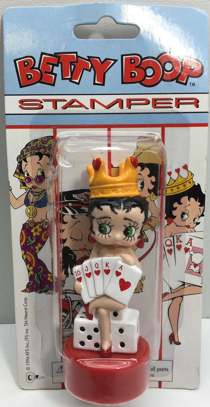 344 best betty boop images on pinterest cartoons dolls and tas033145 1996 king vintage betty boop ink stamper queen of hearts geotapseo Image collections