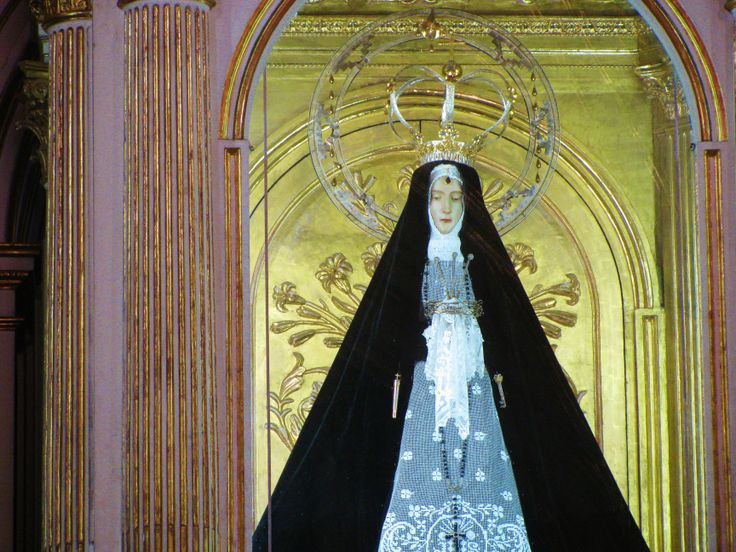 Statue of LA SOLEDAD, Our Lady of the Lonely, Church of La Soledad, Oaxaca. MADONNAS OF MEXICO.