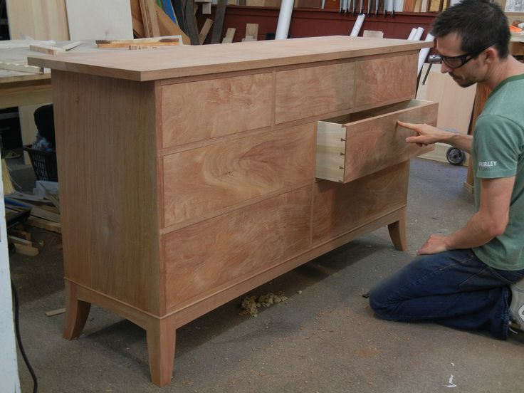 Double Dresser Building Process  Custom Made by Doucette and Wolfe Furniture Makers.  Handmade Mahogany Dresser