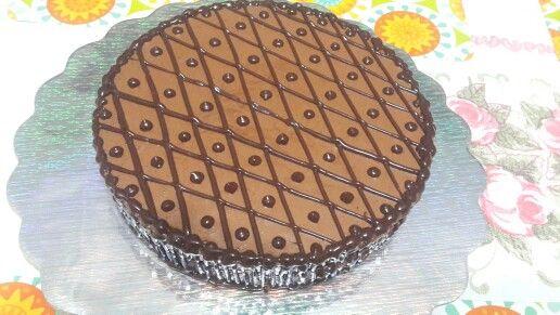 Pastel mousse de chocolate