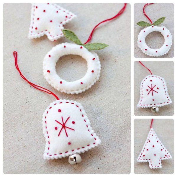 M s de 25 ideas fant sticas sobre adornos caseros de navidad en pinterest adornos navide os - Adornos de navidad hechos en casa ...