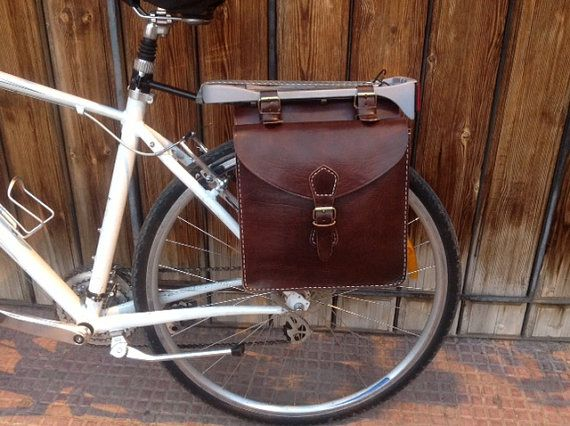 Bicycle saddle bag by Leatherfinerwork on Etsy