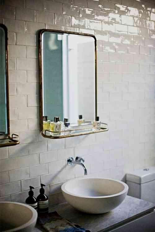 Vintage miroir avec cadre en métal