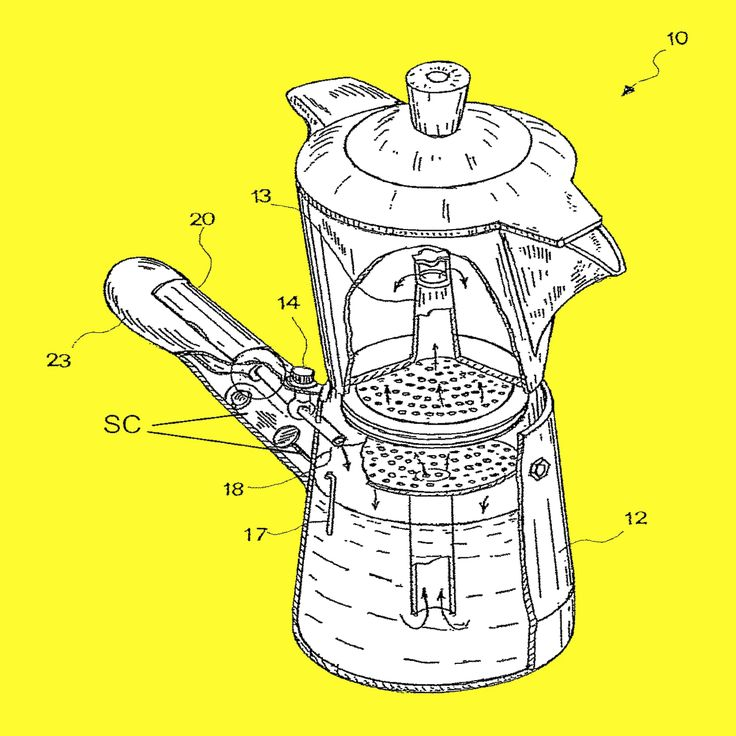 #crescenzi #moka #poster #20x20 #quadrato how works the coffe maker?
