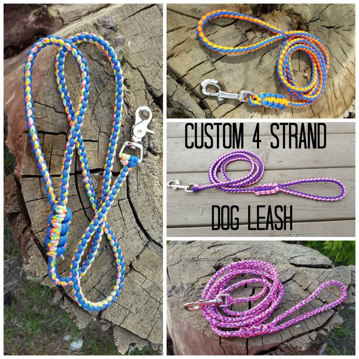 Rope Dog leash 550 Paracord Leash with metal Clasp Select your Color! by BrodsParacord on Etsy